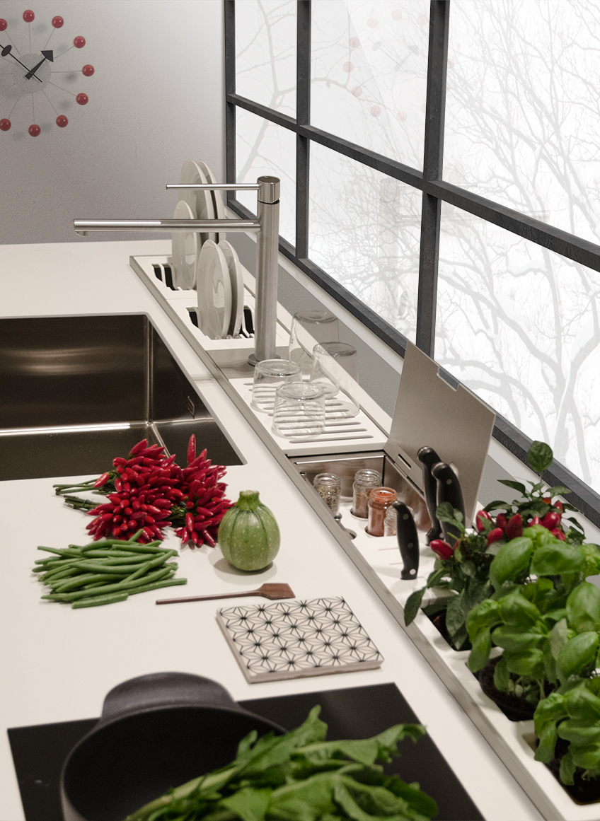 Domusomnia EasyRack Kitchen worktop storage