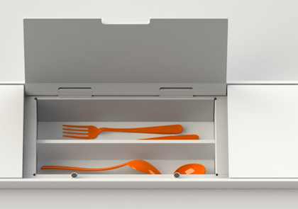 kitchen equipped back rack cutlery tray_boffi